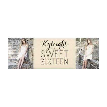Sweet 16 Keepsake Collage Canvas Print - birthday gifts party celebration custom gift ideas diy