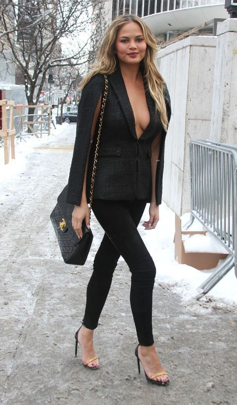 We recognize the most frozen people on the streets at fashion week, including Chrissy Teigen.