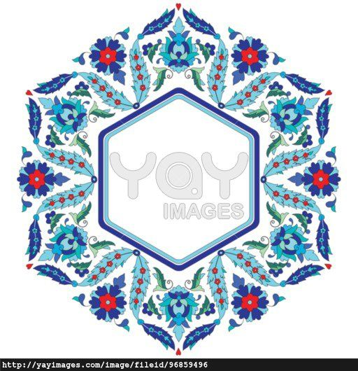 Ottoman motifs design series sixty eight