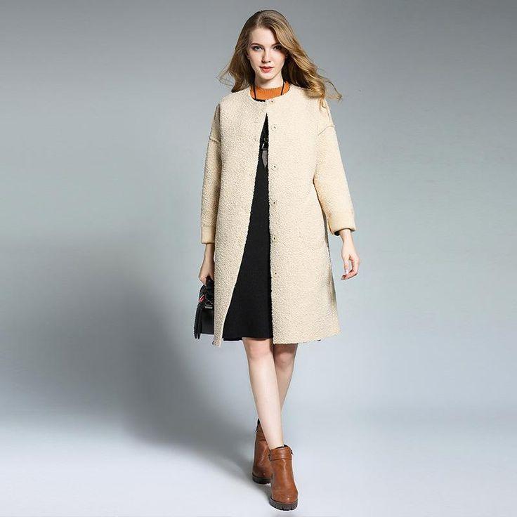 European thick lamb coat  #coat #men #skirts #sweaters #onlineshopping #scarves #online #women #newyork #apparel
