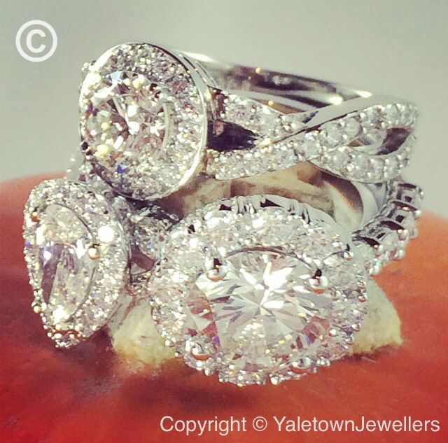 Canadian Diamonds from Diamonds.Ca ltd set in engagement rings RanC designs by Yaletown Jewellers. Check our Instagram.com/diamonds.ca