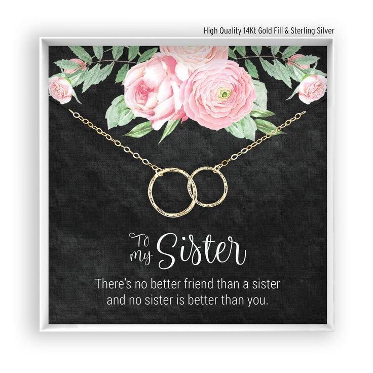 Sisters Necklace, Sister Gift, Sister Jewelry, Sister