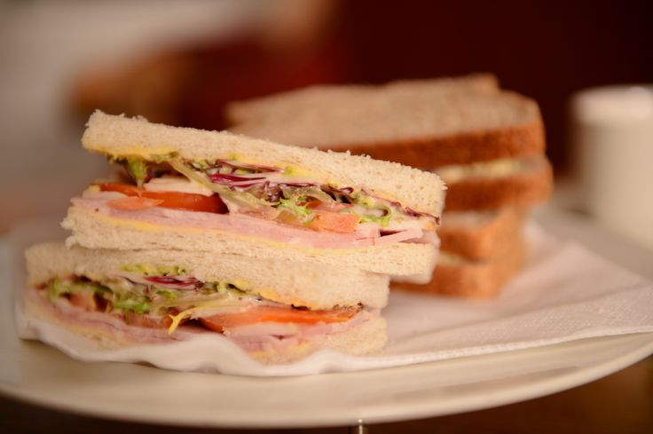 Delicious sandwiches from The Old Waverley's #afternoon #tea.