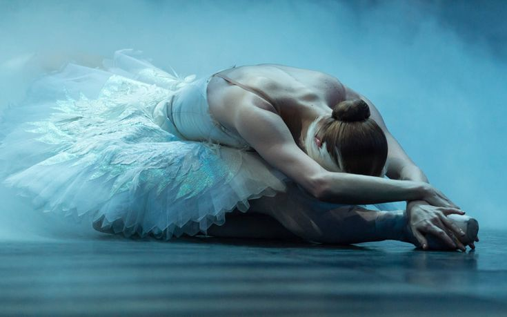 A Swan Lake dancer from the English National Ballet during dress rehearsal. (photo: Gavan/Getty Images)