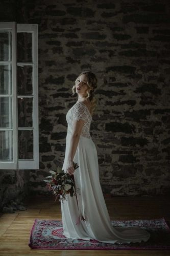 Delicate Wedding dress from Dream It Yourself Montreal quebec