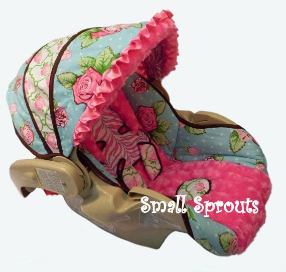 custom rose divine rose minky rosette infant by smallsproutsbaby car seat covers. Black Bedroom Furniture Sets. Home Design Ideas