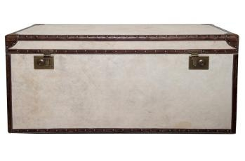 Coffee Table Vintage Canvas Trunk available at meizai