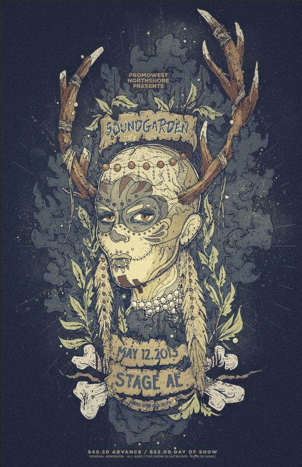 Soundgarden Stage AE Poster by Nina Zivkovic, via Behance