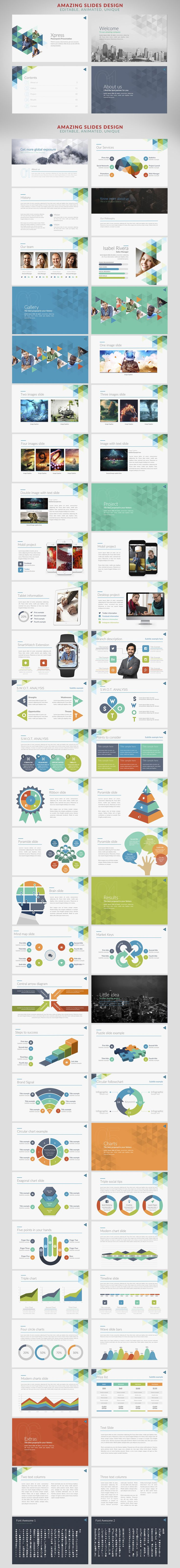 Xpress | Powerpoint templates by Zacomic Studios on @creativemarket
