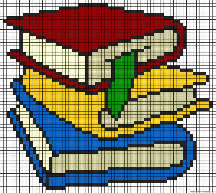 Books perler bead pattern