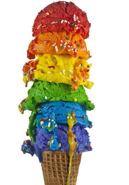 Bom pra ver. Se comer, fica com a língua colorida. :D  Por Henry Hargreaves