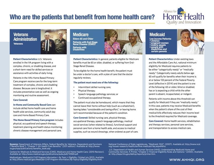 Veterans, Medicare patients and Medicaid patients benefit