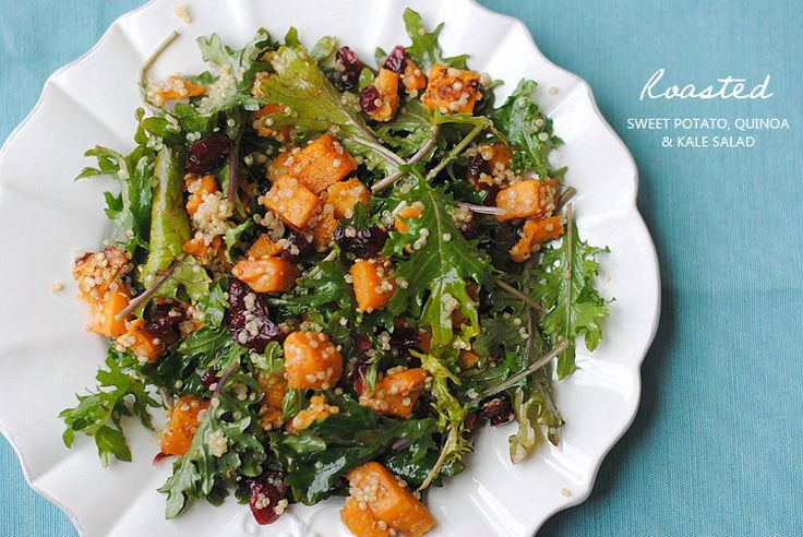 Roasted Sweet Potato, Quinoa and Kale Salad | Recipe ...