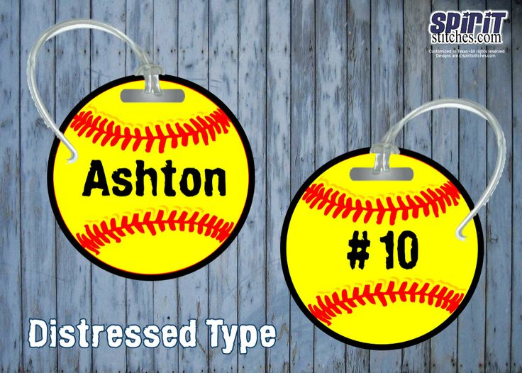 Personalized Softball Bag Tag by SpiritStitchesTX on Etsy, $10.00