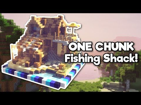 Minecraft Beach Fishing Shack in ONE CHUNK [Tutorial]