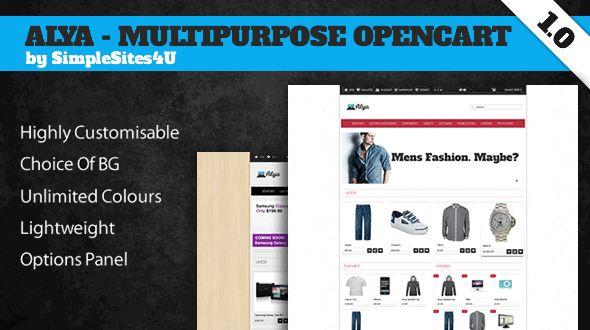 Alya Creative #OpenCart Premium Template #ResponsiveDesign #html5 #ccs3