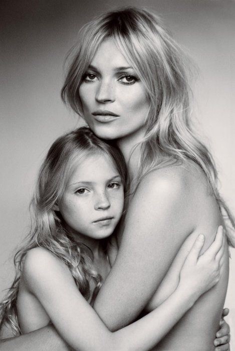 Kate Moss and her daughter for US Vogue, Sept. 2011