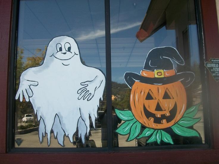 Ghost U With Halloween Window Painting Ideas