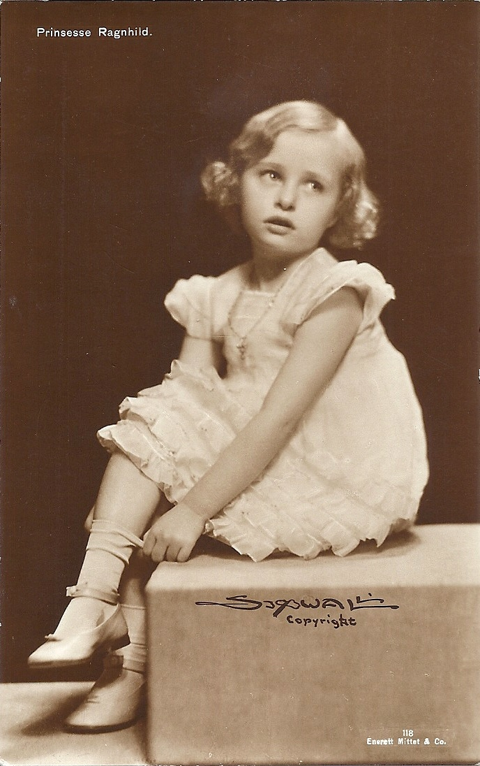 """Princess Ragnhild of Norway.  Love the """"little girl lost"""" look on her face in this portrait."""