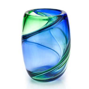 Twister Green and Blue Murano Vase: Glass Art, Vase, Murano Glass, Classy Glass, Blue Murano, Art Glass Murano, Colored Glass