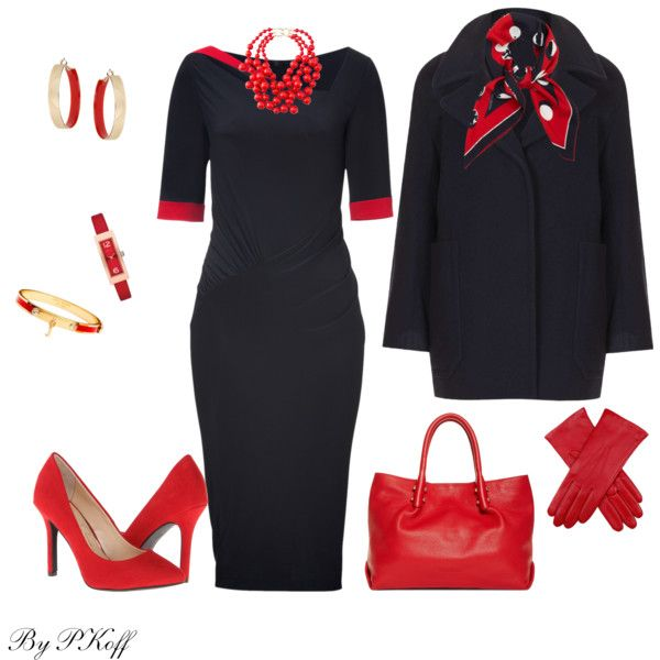 """Navy & Red"" by pkoff on Polyvore"