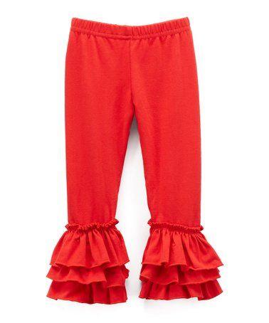 38a22d0a63dcf Ava Grace Boutique   Red Ruffle Leggings - Infant, Toddler & Girls ...