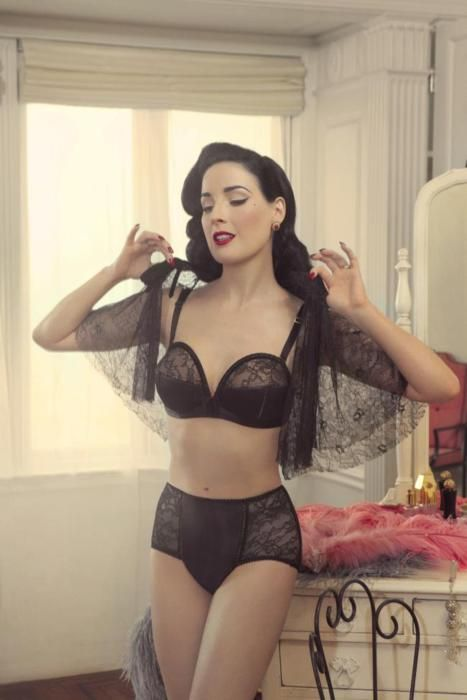 Dita Von Teese Lingerie. Shot by Wayne Maser. That overwire bra is a dream.
