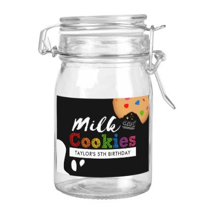 #Milk and Cookies Rainbow Birthday Party Food Label - #birthday #gifts #giftideas #present #party