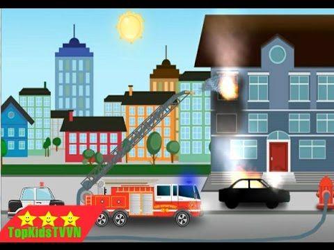 Topkidstvvn-Xe cứu hỏa và xe ô tô cảnh sát-Car Cartoons for Kids