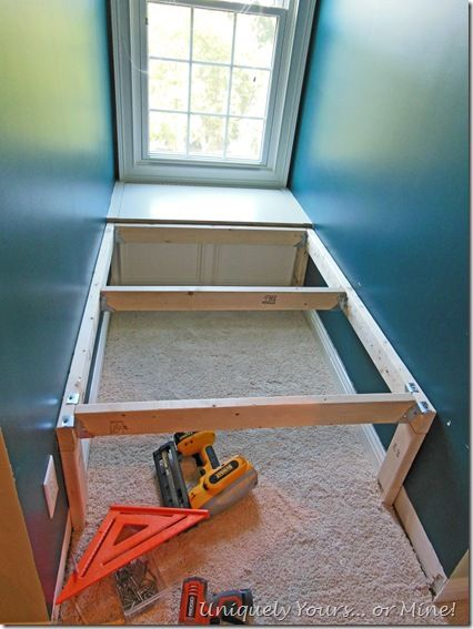 How to DIY build a platform bed in a dormer window space