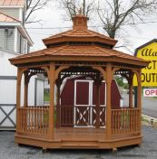 Double Roof Wood Gazebo Kit at Alan's Factory Outlet