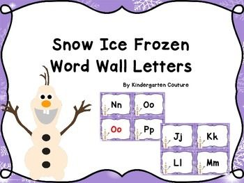 If your class loves Frozen they will love my Snow Ice Frozen Theme Items inspired by Frozen All letters are in black. Vowels are in black and red.  A little snowman is on each one.Snow Ice Frozen Word Wall WordsSnow Ice Frozen Desk platesSnow Ice Frozen Count The Room Ten Frames 1-10 and 11-20Snow Ice Frozen Classroom RulesSnow Ice Frozen Number PostersSnow Ice Frozen Word Wall LettersCute clip art by REVIDEVI http://www.teacherspayteachers.com/Store/Revidevi