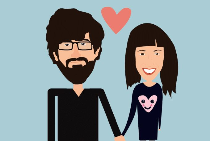 Get an awesome cartoon illustration of you and your significant other    https://www.fiverr.com/georgemussel/make-a-valentines-day-cartoon-portrait    #caricature #anniversary #illustration #vectorart #gift #cute #giftidea #anniversarygift #card #love #couple #fiverr
