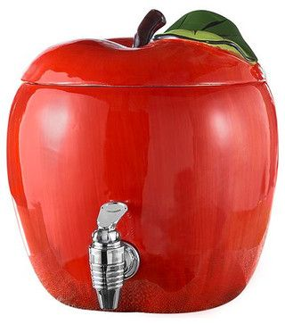 Jay Imports Drink Dispenser, Apple contemporary-beverage-dispensers