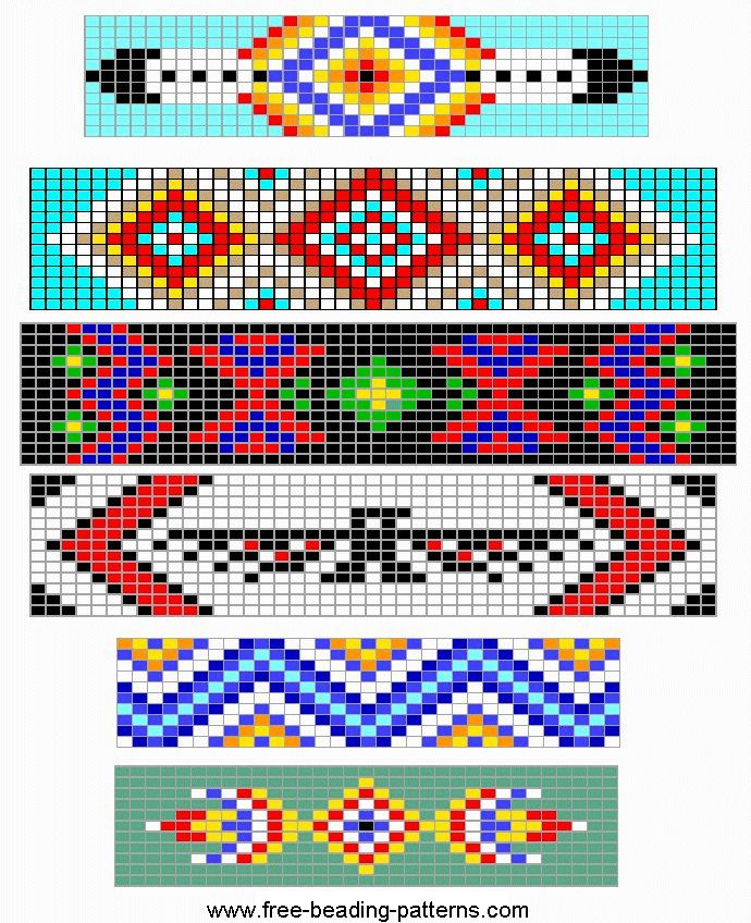 Free Loom Beading pattern simple barrettes