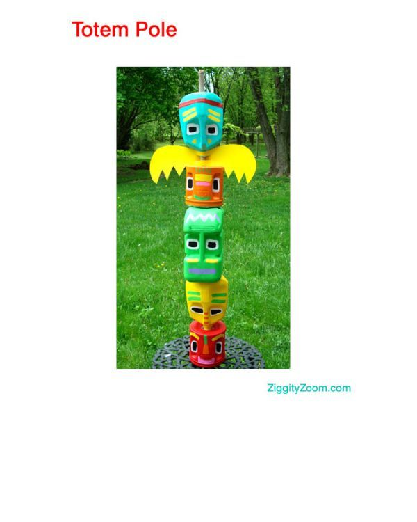 Totem Pole from Recycled Materials | Ziggity Zoom