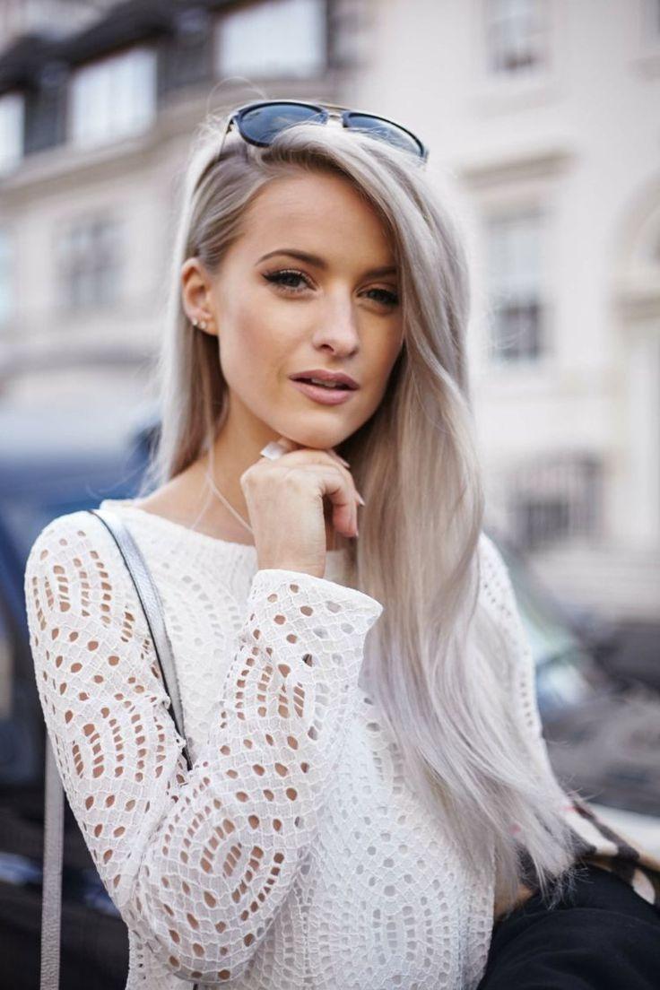 Silber haarfarbe  Die besten 25+ Haarfarbe silber Ideen auf Pinterest | Silber blond ...