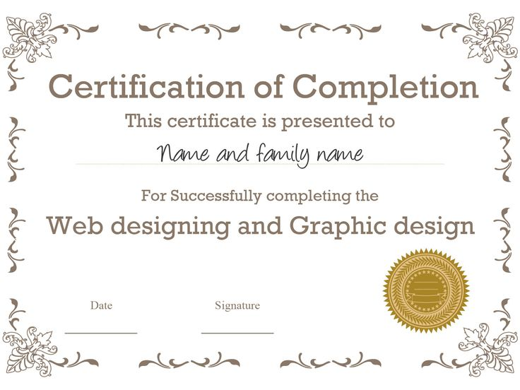 20 best Certificate Templates images on Pinterest Certificate - building completion certificate sample