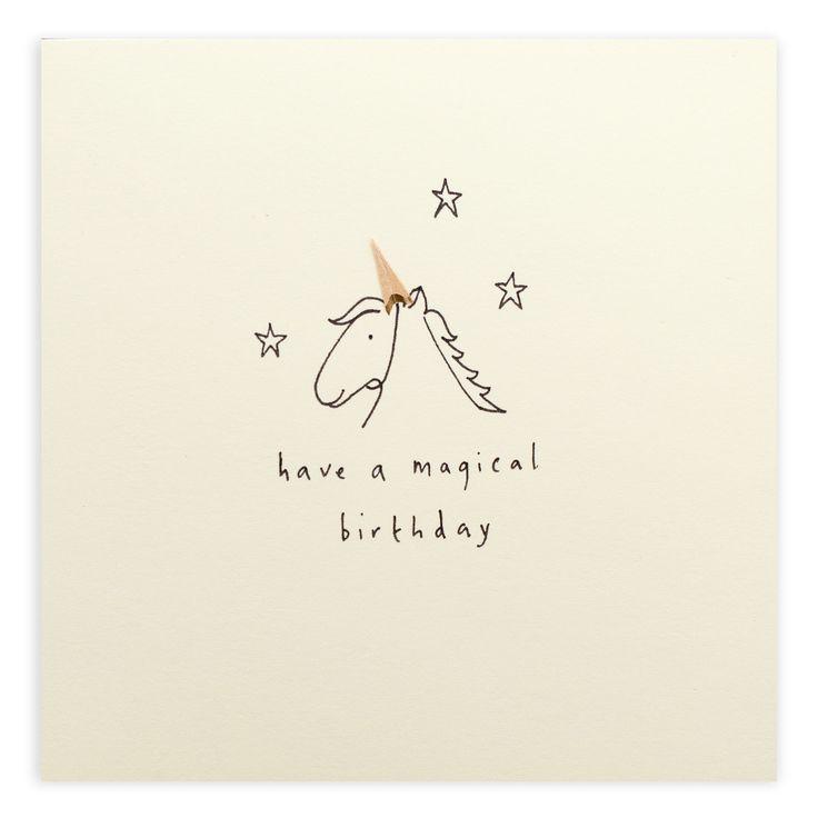 Unicorn – A lovely way to wish a fantastical birthday   Ruth Jackson pencil shavings card