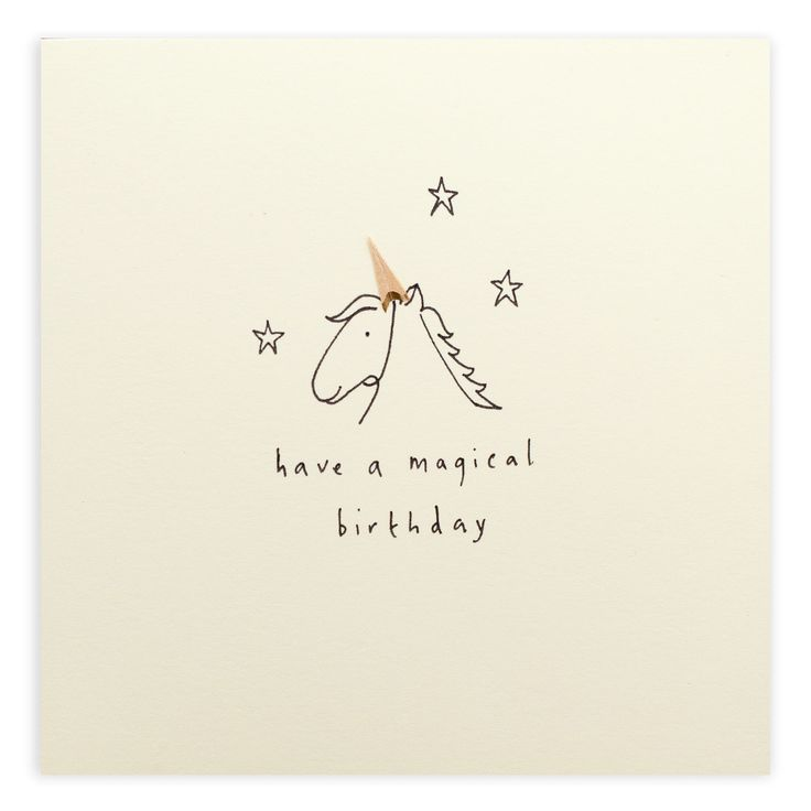 Unicorn – A lovely way to wish a fantastical birthday | Ruth Jackson pencil shavings card