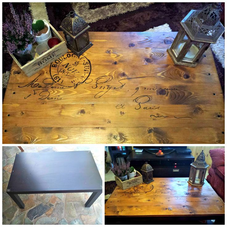 I turned this IKEA hack table from this, to this and i love it!!! Cheap and easy!!