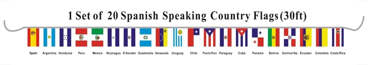 String Flags, Pennant Strings, International, Latin, Asian, African...