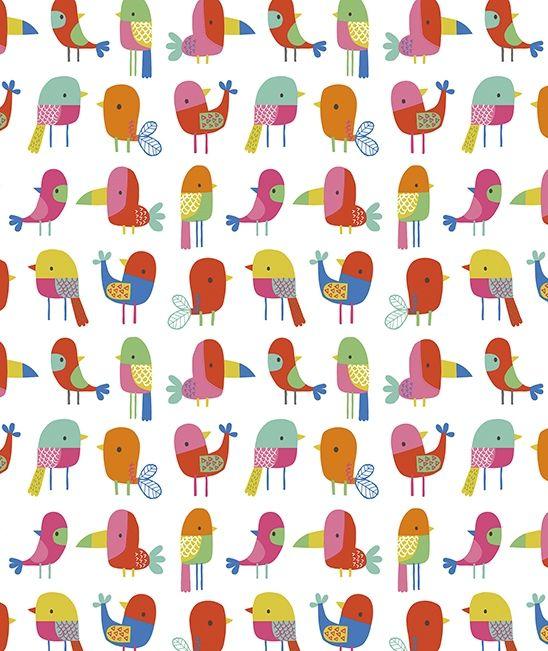 papier peint enfant oiseaux tropicaux papier peint. Black Bedroom Furniture Sets. Home Design Ideas