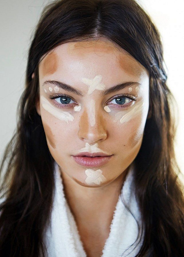 Bronzer and highlighter guide, require serious blending.