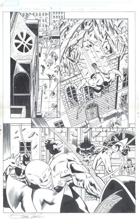 Scott Koblish - Marvel Comics - Last Hero Standing Vol 1 #4 - Original Art Plate - Page 12 - (2005) - W.B.