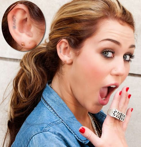 Tattoos for Women Miley Cyrus
