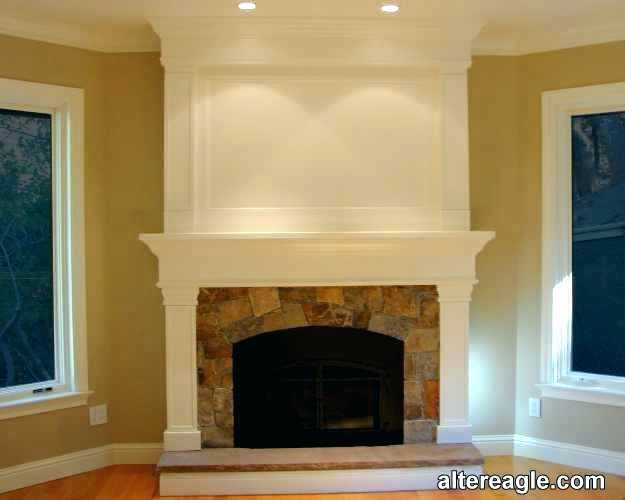 Image Result For Cover Brick Fireplace With Wood Panels