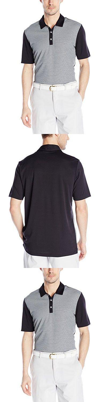 Adidas Golf Men's Climachill Heather Stripe Polo Shirt, Black, Large