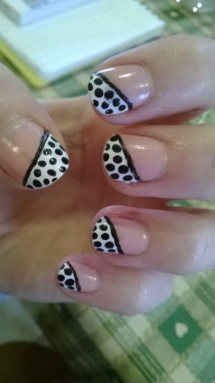 spotty nails #nails #spots