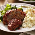Glazed Meatloaf, using ground turkey & 93% lean beef. 240 Calories, 3g ...